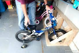 diy floor bike rack garage floor bike rack for home design ideas and pictures pertaining to