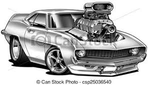 muscle cars drawings. Interesting Cars Cartoon Muscle Car Line Drawing  Stock Illustration  U002769  With Blower Stock  Throughout Cars Drawings