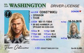 Scannable Washington Id Fake License Drivers Best wa Idviking Ids - Old