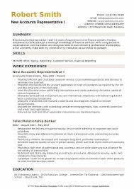 New Resume Examples New Accounts Representative Resume Samples Qwikresume