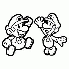 Super Mario E Luigi Battono Il Cinque Disegno Da Colorare Gratis