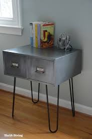 Vintage metal furniture Kitchen Island Base Vintage Metal Cabinet Makeover With Hairpin Legs Use As Nightstand Or End Table Pinterest Before After Vintage Metal Cabinet With Hairpin Legs