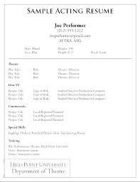 beginner acting resume sample actor resume template word blaisewashere com