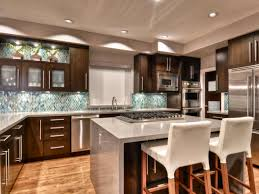 Kitchen:Awesome Open Concept Kithen Design With Kitchen Island And High  Wooden Bar Stools And