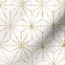White And Gold Removable Wallpaper