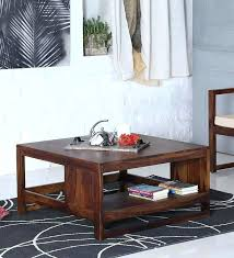 benton coffee table avian solid wood coffee table with storage in provincial teak finish by target