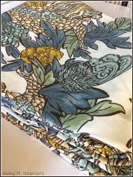 ming dragon fabric from carroll living for abby m interiors one room challenge