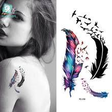 Voděodolné Netoxické Tetování Pírko