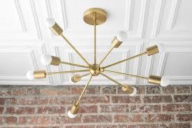 sputnik lamp brass light fixture modern