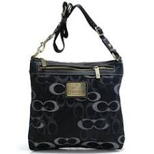 Coach Legacy Swingpack In Signature Large Black Crossbody Bags A