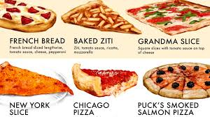 Chart Shows 40 Types Of Pizzas The Good The Bad And The