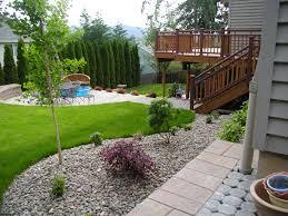 ... Interesting Design For Kid Backyard Landscape : Interactive Kid  Backyard Landscape Decoration With Grass Garden Landscape ...