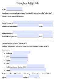 Boat Bill Of Sale Free Texas Boat Bill Of Sale Form PDF Word Doc 16
