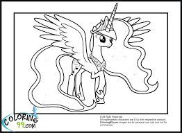 beautiful princess luna coloring pages my little pony page