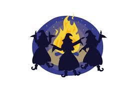 Un point lié à un cercle roulant sans glisser à l'intérieur d'un cercle de rayon double engendre une ellipse (un segment si le. Witches Dancing Around Fire Svg Cut File By Creative Fabrica Crafts Creative Fabrica