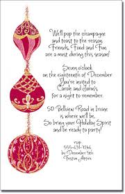 corporate luncheon invitation wording red gold christmas tree ornament invitation holiday party invitations