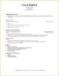 resume example for high school graduate inspirational resume examples high school graduate no experience no
