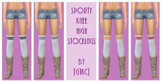 14 variations of Sporty Knee High Stockings at GWEN via Sims 4 Updates |  Knee high stockings, Sporty, Knee high