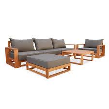 Salon De Jardin Mobilier Table Et Chaises En Resine Bois