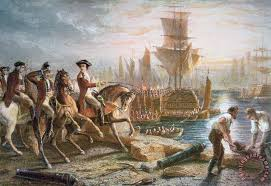 lord howe organizes the british evacuation of boston in march 1776 painting english school lord
