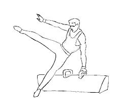 gymnastics color pages amazing balance beam gymnastic coloring page