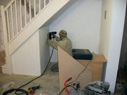 under stairs office. Under Stairs Office Building An Stair Squeezing In A Small Cupboard Buildings .