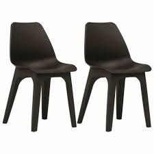 vidaxl 2x garden chairs brown plastic
