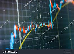 Share Price Candlestick Chart Finance Background Stock Photo