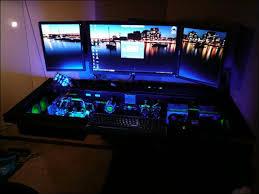 built in computer desk custom built computer desk inspiring custom computer desk