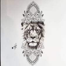 Pinterest At Xokikiiii ϯαttσσs Tattoos Mandala Lion