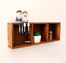 Decorative Display Boxes Retro Storage Shelf Wooden Boxes Craft Decorative Racks Wall 84