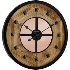 bulova 24 in h x 24 in w round wall clock