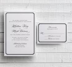 Simple Wedding Invitations Templates Printable Black And White