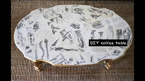 The kate coffee table is the solution for condos and smaller spaces, and an ideal fit for sofa chaises and crafted from smooth mango wood in a rich medium brown finish, this round coffee table. Diy Decoupage Coffee Table Furniture Design Tutorial With Mr Kate Youtube