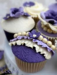 pretty purple cupcake. Perfect Purple Beautiful Cake Pictures Purple Cupcake With Ruffles U0026 Pearls  Cupcakes Fondant Throughout Pretty