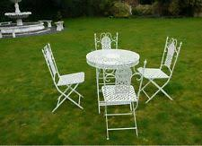 wrought iron garden furniture. cast iron table 4 chairs garden furniture wrought patio set kitchen white wrought iron garden furniture