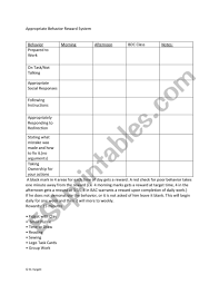 Pbis Daily Behavior Management Chart Esl Worksheet By