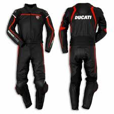 ducati corse motorcycle racing leather suit