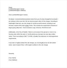 how to write a rent increase notice sample rent increase letter sample rent increase letter pdf
