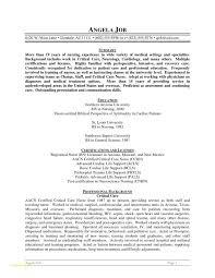 Sample Of Resume For Nurses Or Best Nurse Resume Format Pdf Nurse