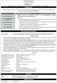 Sample Resume Format For Freshers Software Engineers Resume Template