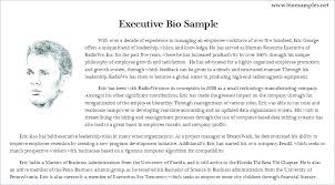 Free Bio Templates And Samples Artist Template Word