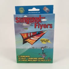paper flyer flying driving toys slingshot paper flyer kit