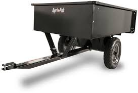 details about utility dump cart steel tow behind trailer lawn garden yard wagon hitch agri fab
