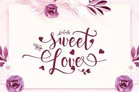 sweet love font dafont