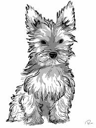 Show them your love and affection and let them show their artistic and creative sides. Yorkie Printable Coloring Pages