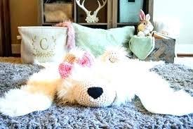 nursery bear rug fake polar faux woodland with head skin for