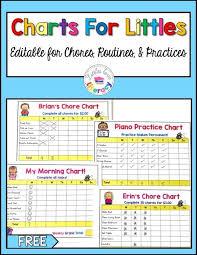 Editable Bedtime Routine Chart Editable Charts For Littles Chore Chart Kids Morning