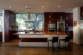 simple modern kitchen. Simple Modern Kitchen Ideas With White Tile And Brown Floor