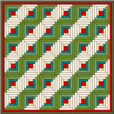 Log Cabin Quilt Block & Return From Log Cabin Quilt Block Back To Free Block Patterns Adamdwight.com